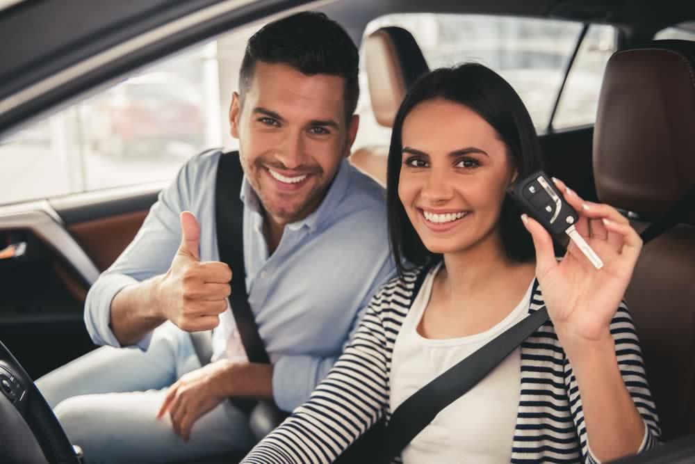 Happy auto buyers